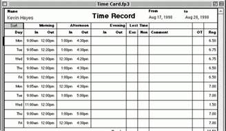 Time Card Spreadsheet Time Card Spreadsheet Submited Images