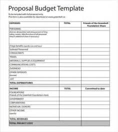 Budget Sample Template Budget Proposal Template 9 Free Download For Pdf Word