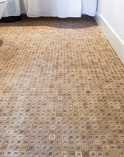 ultimate scrabble this scrabble wood tile floor is the ultimate bathroom