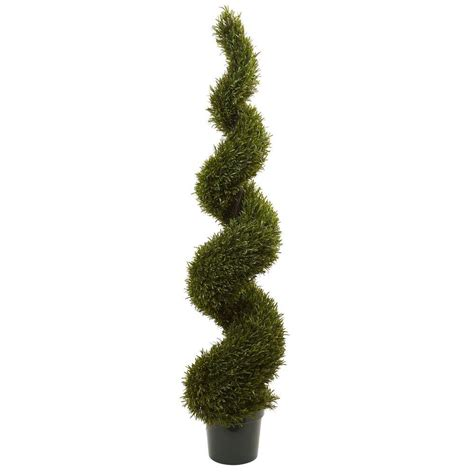 nearly natural 6 ft indoor outdoor rosemary spiral tree