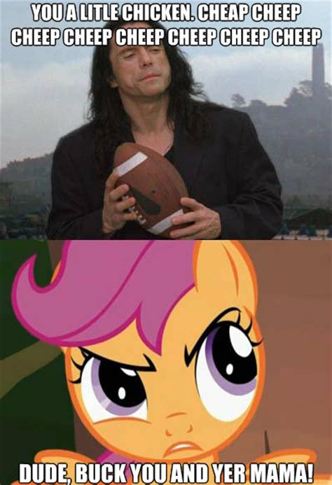The Room Meme - the room with scootaloo my little pony friendship is