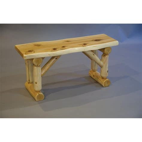 cedar log bench white cedar log bench