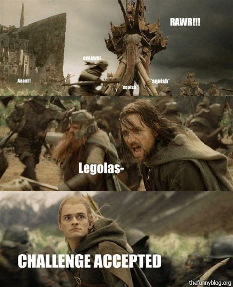 Funny Lotr Memes - challenge accepted lord of the rings