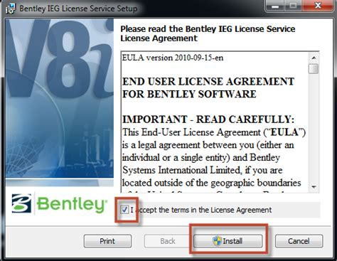 Bentley Ieg License Service 01 How Do I Install And License Bentley Puls