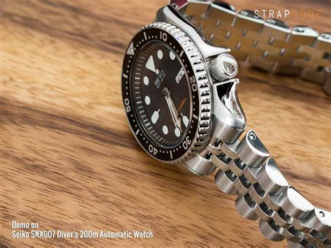 Seiko 5 Bracelets 22mm 22mm angus jubilee 316l stainless steel bracelet for
