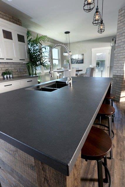 image result      black concrete countertop