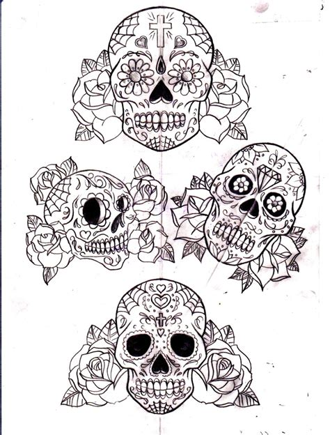 sugar skull and roses tattoo sugar skull and roses by calebslabzzzgraham on deviantart