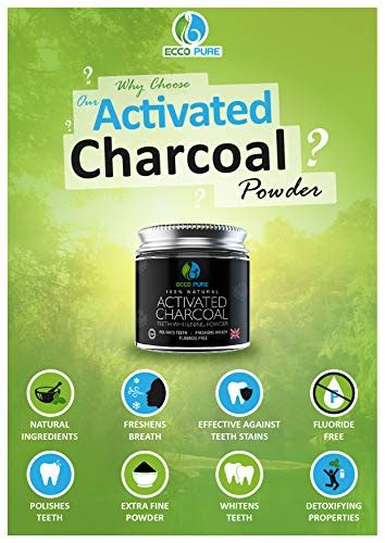 activated charcoal natural teeth whitening powder  ecco