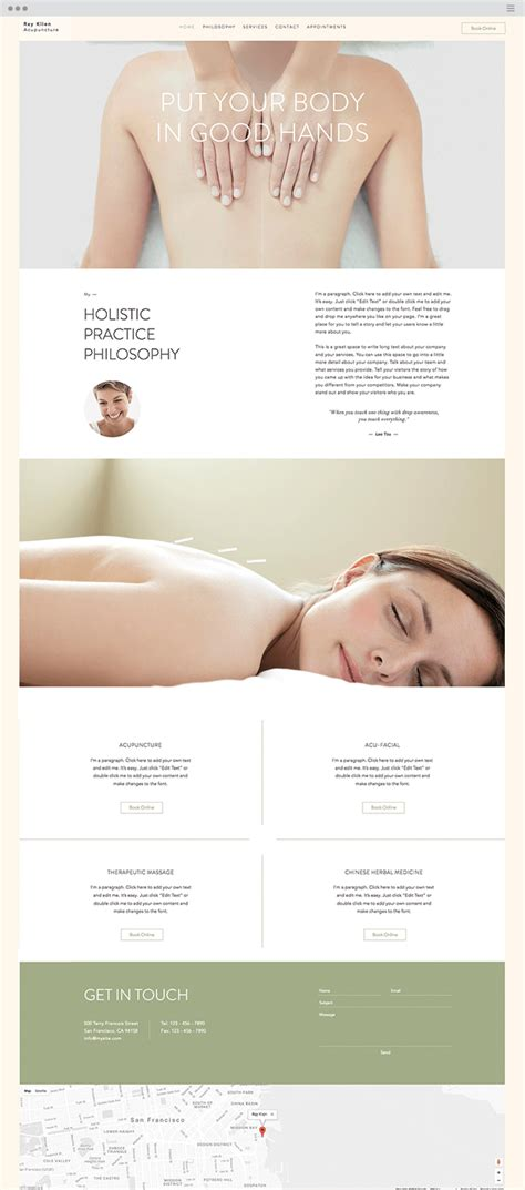 17 New Website Templates You Have To See Acupuncture Website Template Free