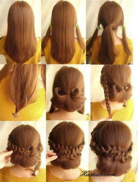easy hairstyles at home for wedding low braided bun updos tutorials popular haircuts