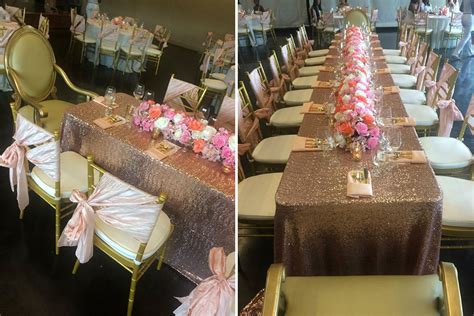 Bridal Shower Tablecloths by Photos Beautiful Blush And Sequin Bridal Shower By Var