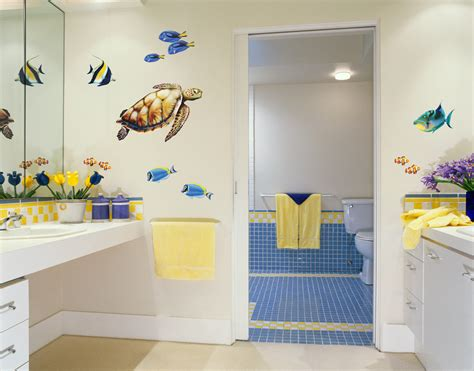 turtle bathroom set sea turtle and reef fish wall decal set bold wall art