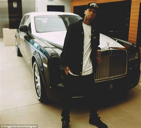 Tyga Lamborghini Rapper Tyga Set To His 400 000 Lamborghini