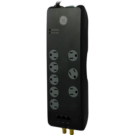 ge surge protector light ge 8 outlet pro surge protector 30826 the home depot