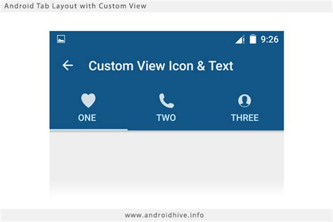 layout xml custom view material design tabs aj apps