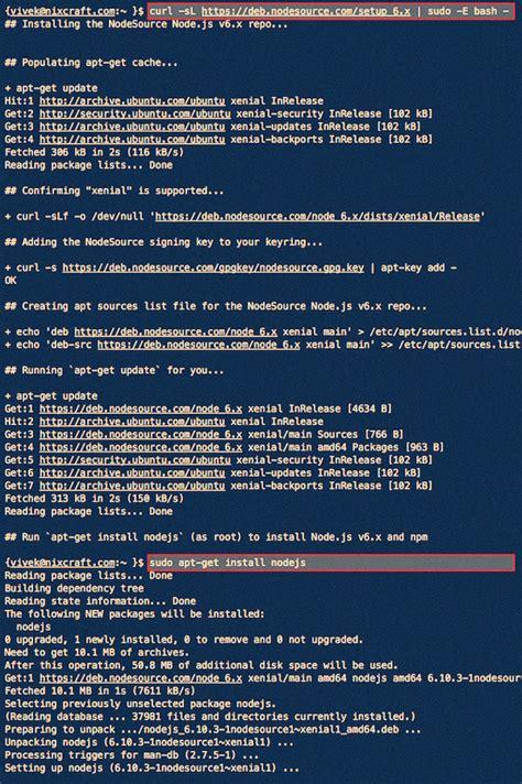 how to install node js ubuntu how to install node js on ubuntu linux 16 04 lts server