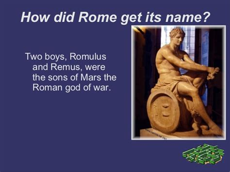 how to a its name how did roma get its name