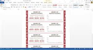 template for tickets with stubs free summer themed templates from microsoft