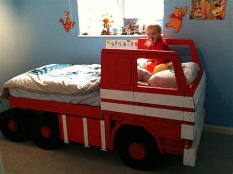 Handmade Childrens Beds - scania 142 theme bed in situ by furniture collection