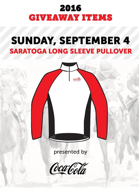 Saratoga Springs Race Track Giveaways - saratoga long sleeve pullover giveaway nyra
