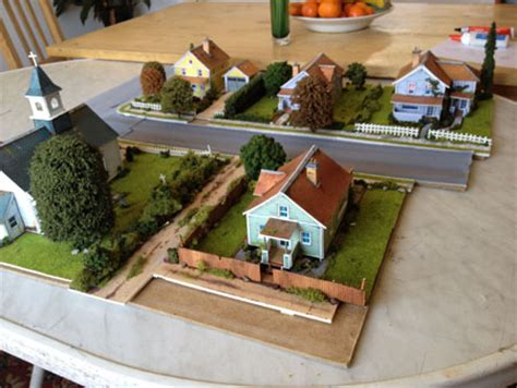 Small Concrete House Plans Print Out Scenery Town Layout Model Railway Layouts