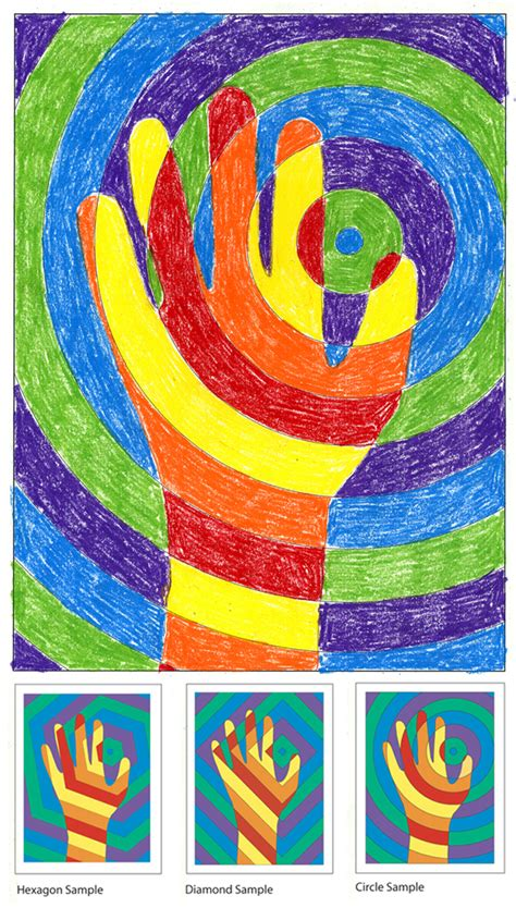 hand pattern art lesson finger painting friday justalittlefun page 2