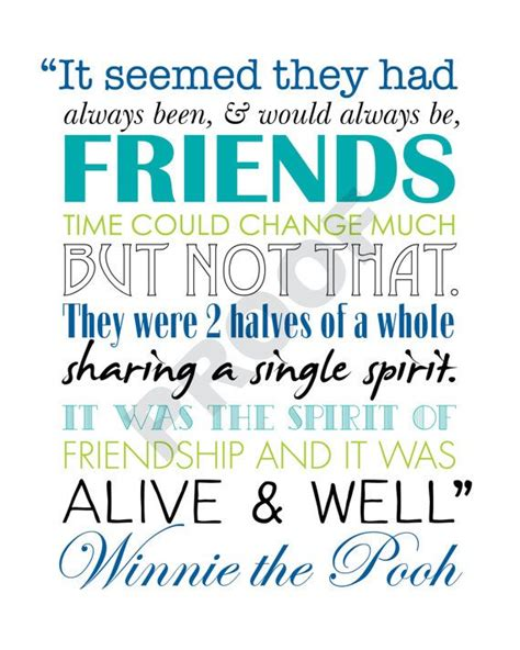 printable quotes about friendship winnie the pooh printable friendship quote artwork