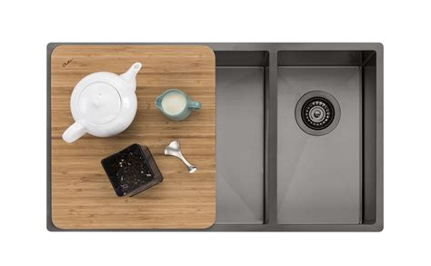 Oliveri Sink Accessories by Oliveri Spectra 1 1 2 Bowl Gunmetal Sink Spectra By