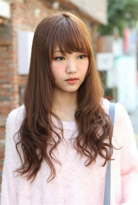 Hairstyle For Long Hair Girls by Cute Korean Hairstyle For Long Hair Hairstyles Weekly