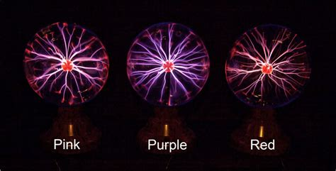 color of plasma plasma globe comparison