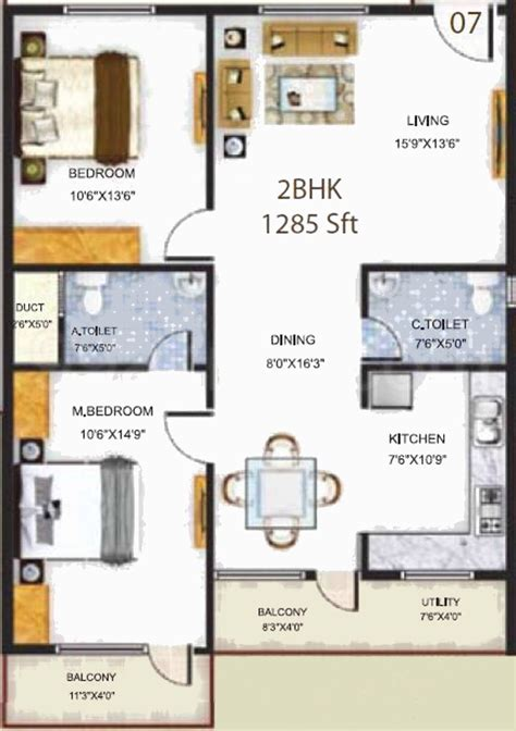 serenity floor plan 1285 sq ft 2 bhk 2t apartment for sale in baldota group serenity hosa road bangalore
