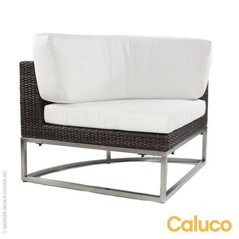 Caluco Patio Furniture Mirabella Sectional Curved Corner Caluco Patio Furniture Metropolitandecor