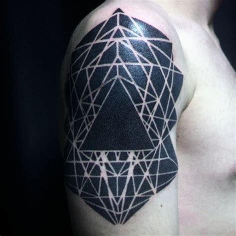 tattoo geometric blackwork geometry blackwork tattoo on shoulder best tattoo ideas
