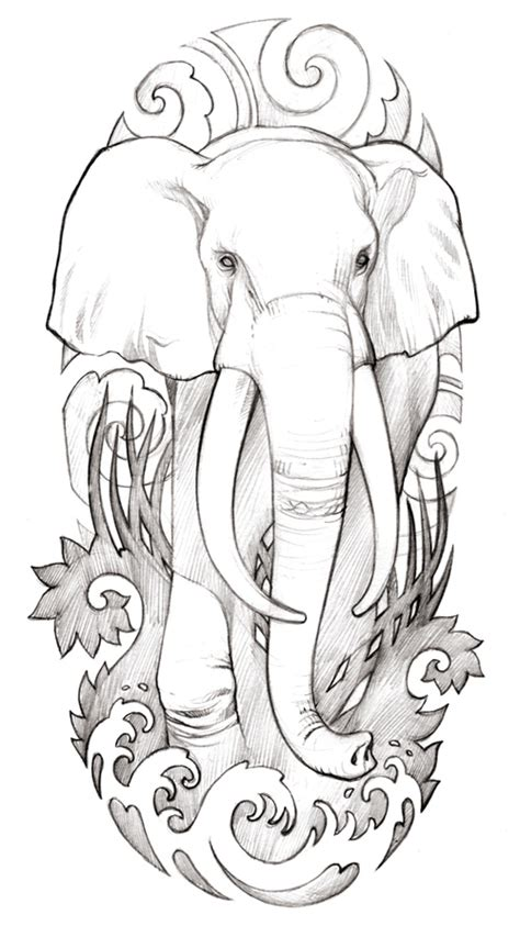 elephant tattoo images designs