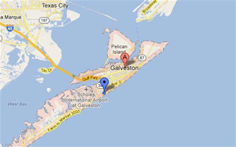 map of galveston island texas galveston tx the daytripper