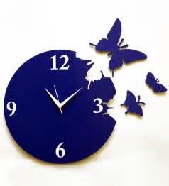 Wall clock blue by panache online contemporary clocks home decor