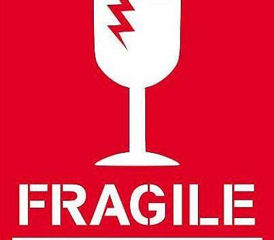 Kaos Fragile jual paket grosir 1 set isi 30 pcs stiker fragile di