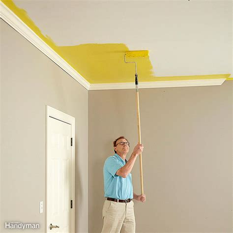 How To Paint Between Ceiling And Wall by How To Paint A Ceiling The Family Handyman