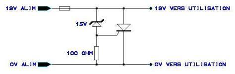 transil diode schematic protection contre surtension en sortie d alimentation
