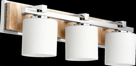 Bathroom Vanity Light Height Quorum International 5370 3 14 Chrome 7 5 Quot Height 3 Light Bathroom Vanity Light Lightingdirect