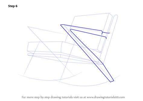 how to draw a recliner chair step by step step by step how to draw rocking chair