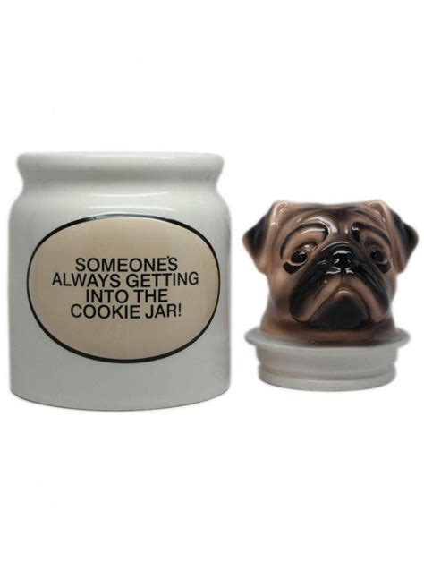 pug cookie jar quot pugs quot cookie jar by pacific trading