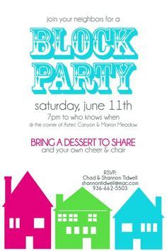 1000 ideas about block party invites on pinterest