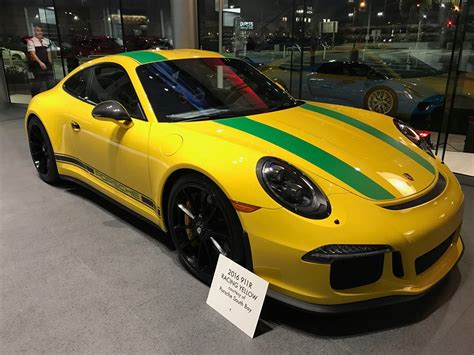 yellow porsche special racing yellow porsche 911 r tribute to ayrton
