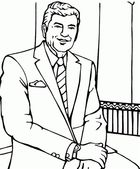 printable presidents ronald wilson reagan coloring pages