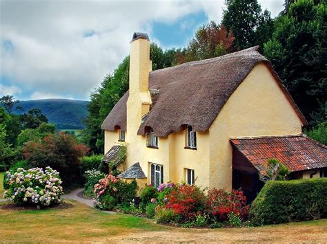 Thatched Cottages by Thatched Cottage Selworthy Wallpapers Stocks