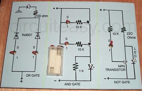 diode circuits projects logic gates expert circuits