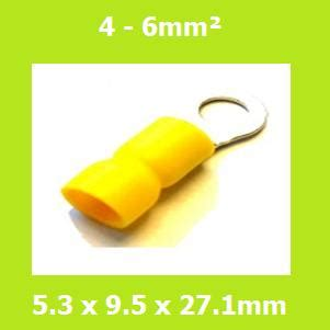 Insulated Ring 1 5 5 3mm 100 Pack Visalux ring terminal rve5 5 5 3mm yellow vinyl insulated pack of 100