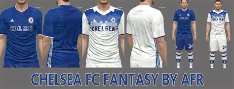 chelsea kit pes 2017 pes 2016 chelsea fantasy kits by afr pes patch