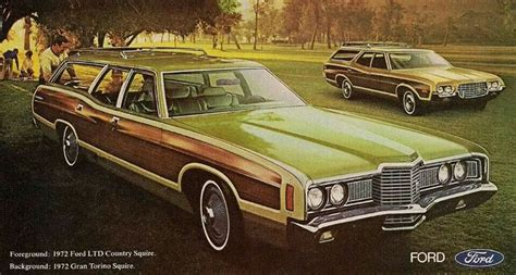 green station wagon with wood paneling ford ltd or grand torino station wagons with luxury